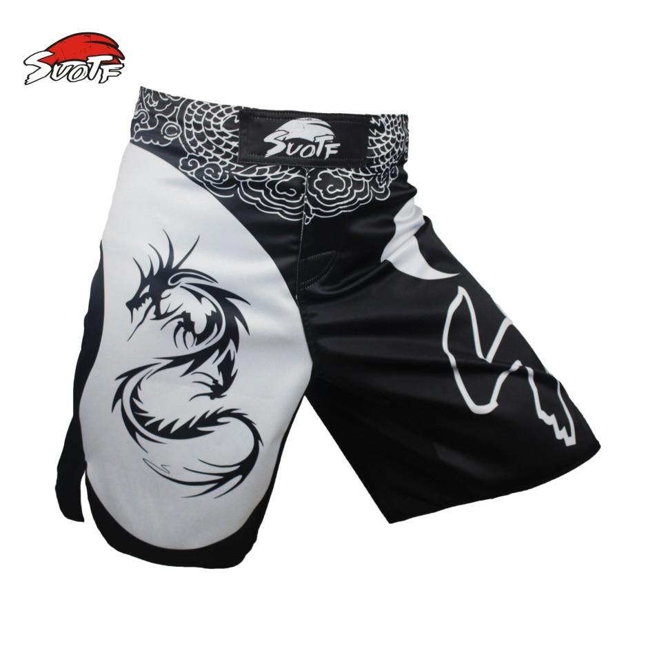 Suotf Mma Dragon Boxing prepotente Motion Picture in cotone Loose Size Training Kickboxing Shorts Muay Thai Boxing Mma Shorts