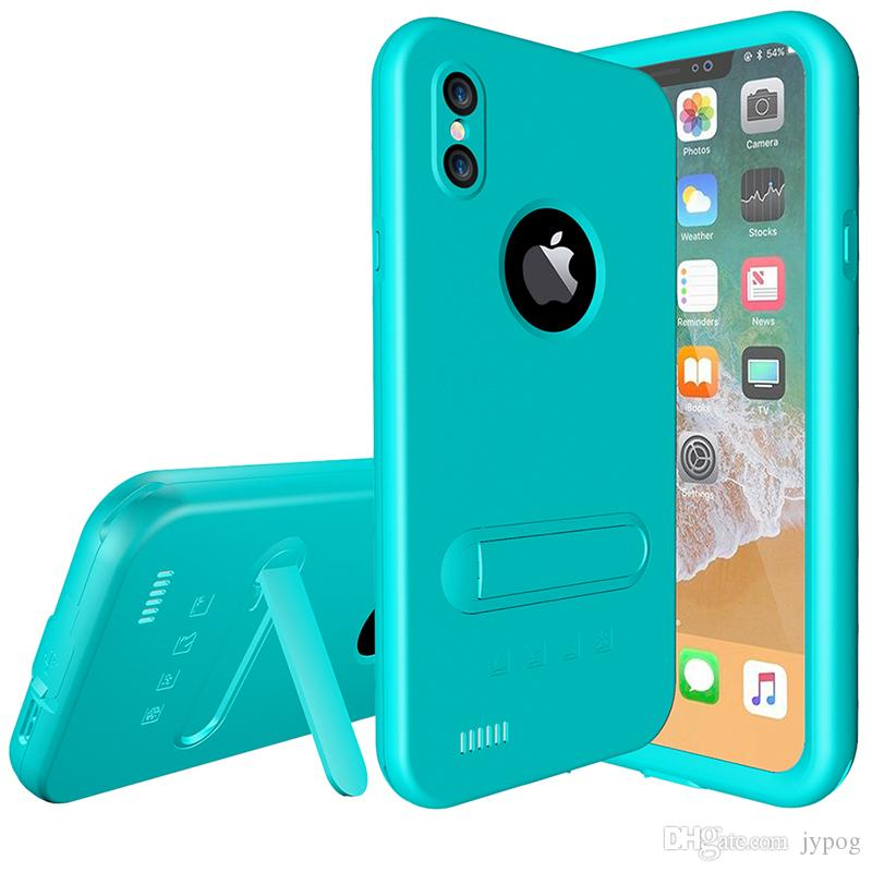 For iPhone X Case Waterproof Defender Colorful Case Under Water Full Sealed Cover Shockproof Snowproof Dirtproof Case with Screen Protector