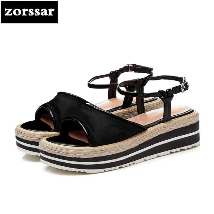 367a5307325d5e  Zorssar  2018 New Fashion Horsehair Ankle Strap Flat Sandals Summer Womens  Shoes Flats Sandals Shoes Women Beach Shoes Pink Sandals High Heels From ...