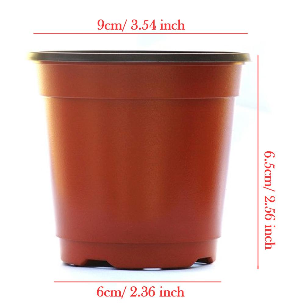 Plastic Flower Pot Planters Garden Plant Nursery Pot macetas Container for Growing Herbs Smaller Annual Vegetables