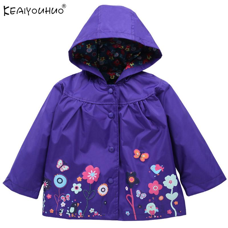 a90e4ccbe KEAIYOUHUO Baby Girl Jacket Hooded Baby Outerwear Printing Waterproof  Raincoat Children'S Clothing Long Sleeve Jackets For Girls Waterproof  Jackets For Kids ...