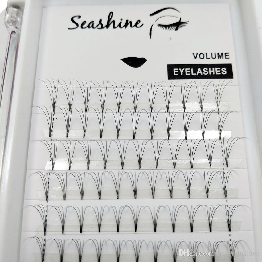 1 Tray4D Short Stem Cluster FANS Eyelashes Extensions Premade Volume Top quality Russian Individual Lashes Premade Fans False Lashes