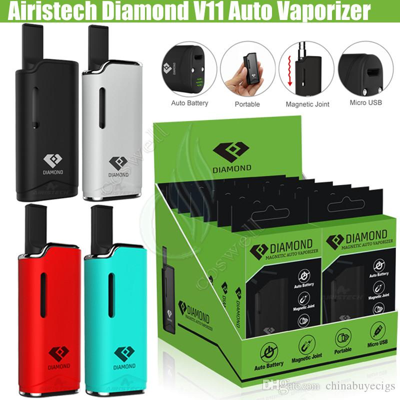 Original Airis Diamond V11 Auto Vaporizer 510 thread Vape pen Kits Airistech Box Mod 280mAh Battery CE3 Cartridges Tank Thick Oil Atomizers