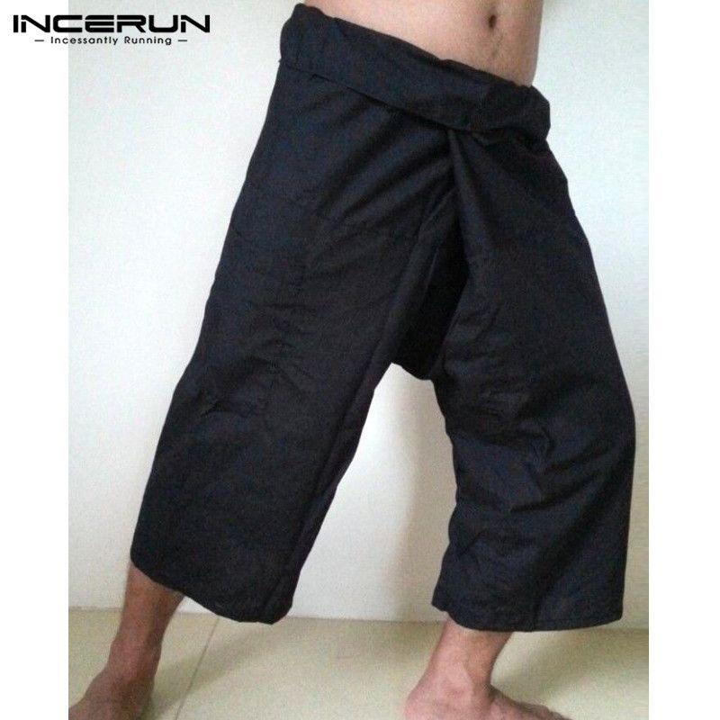 4ddab83ff76542 New Men Pants Solid Loose Pockets Wide Leg Trousers Men And Women Casual  Breathable Yoga Massage Thai Fisherman Pants S-5XL Wide Leg Pants Cheap  Wide Leg ...