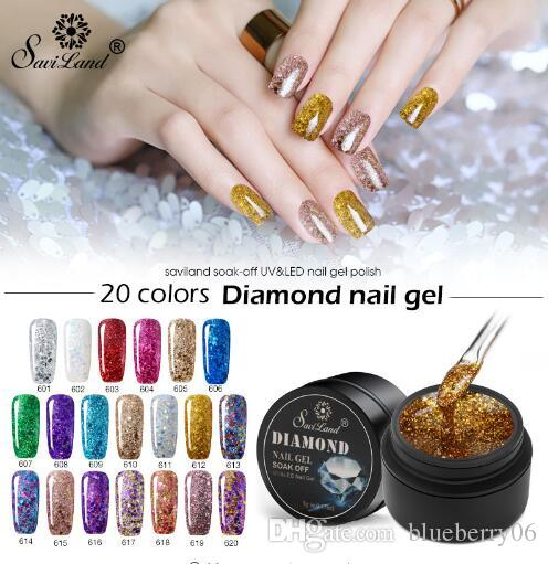 Gel Peinture Hybride Diamant Paillettes Gel Vernis À Ongles UV Nail Art Manucure Gel Vernis Soak Off Sequins