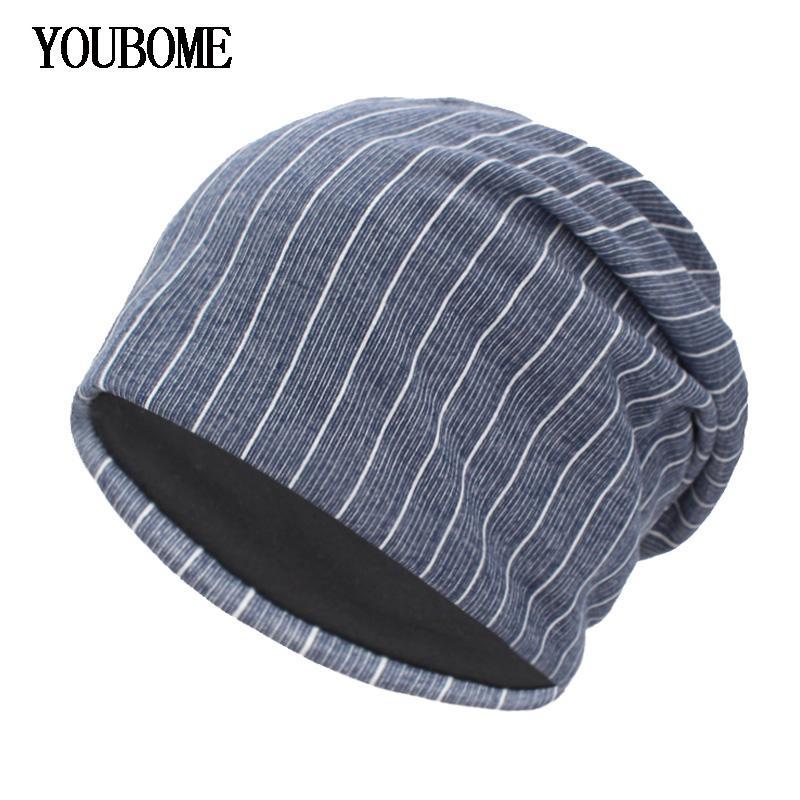 06ae9abda62 YOUBOME New Autumn Knitted Hat Winter Hats For Women Skullies Beanies Men  Striped Winter Beanie Gorros Bonnet Warm Baggy Hat Cap Skullies   Beanies  Cheap ...