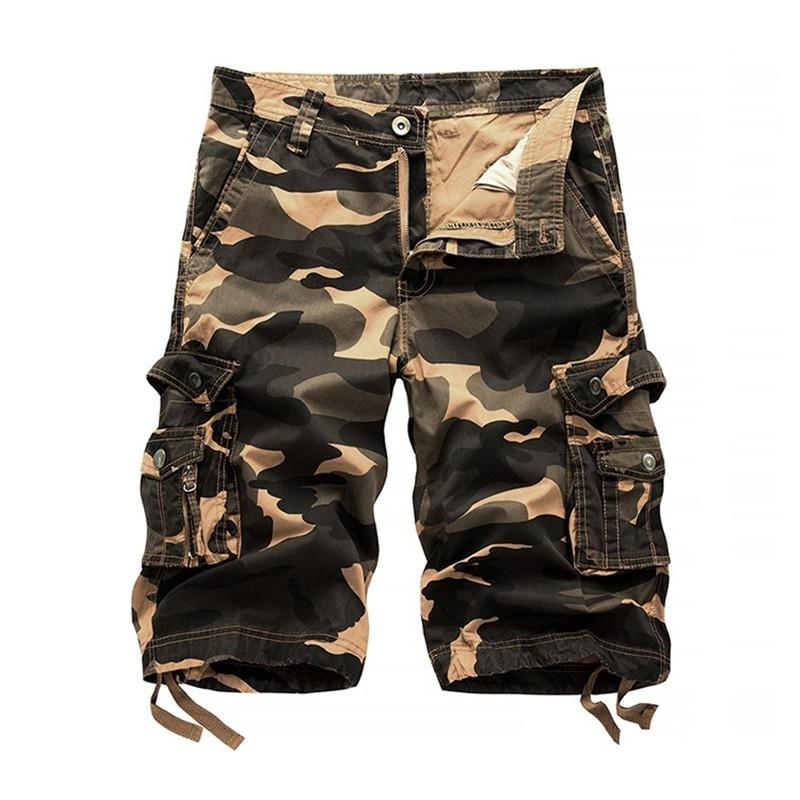 79681414d2 New Men's Cotton Cargo Shorts Good Quality Multi-pocket Camouflage Tooling  Shorts Male Outdoors Casual Size Men Short