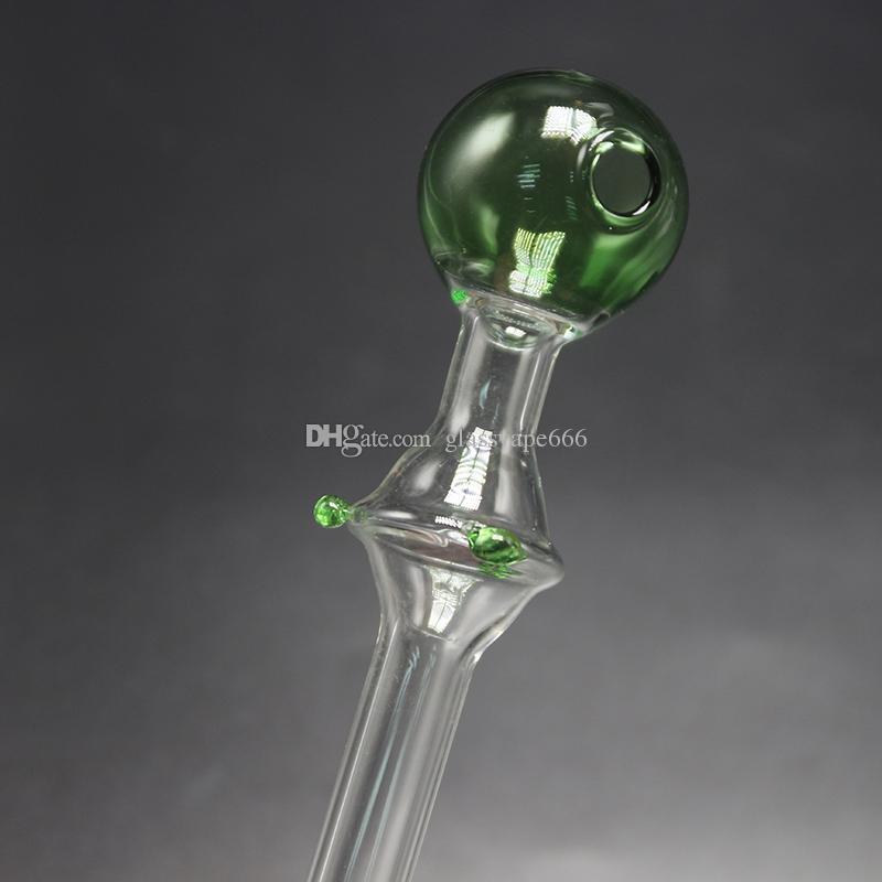 Le plus récent Brûleur en verre de couleur courte Mini Fumer la poignée Pipes fume des pipes Brûleur à huile de brûleur de haute qualité EN STOCK