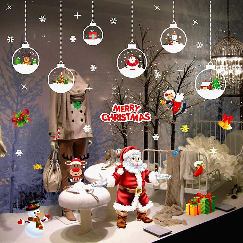 Capodanno A Casa Di Babbo Natale.Acquista Capodanno Adesivi Murali Di Babbo Natale Babbo Natale