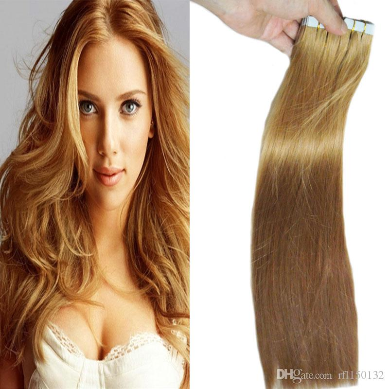 Tape In Human Hair Extensions 10 24 Inch Straight Tape In Hair Skin