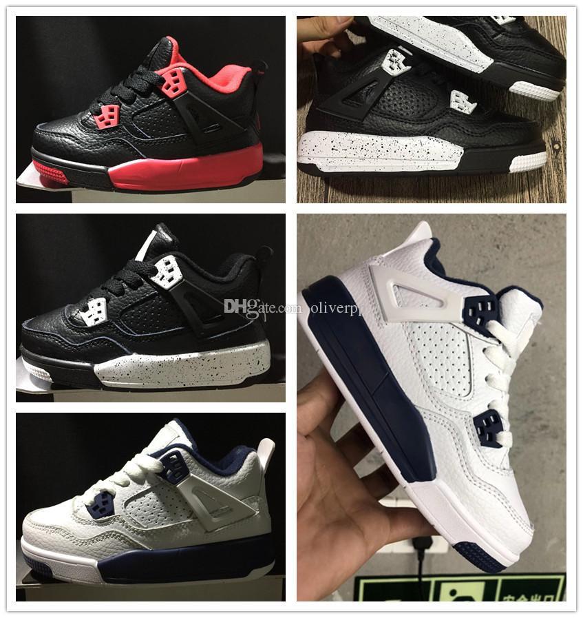 finest selection cff88 57ab0 Acheter Nike Air Jordan Aj4 Enfants 4 Chaussures De Basket Ball Enfants  Athlétique Chaussures De Sport Pour Garçon Filles Chaussures Livraison  Gratuite ...