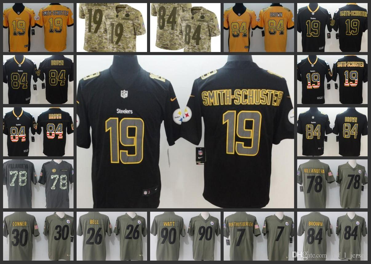 2019 Pittsburgh Men Steelers Jersey  7 Ben Roethlisberger 26 Le Veon Bell 19  Juju Smith Schuster 90 T.J. Watt Women Youth Embroidery Jerseys From ... 24e5e18af