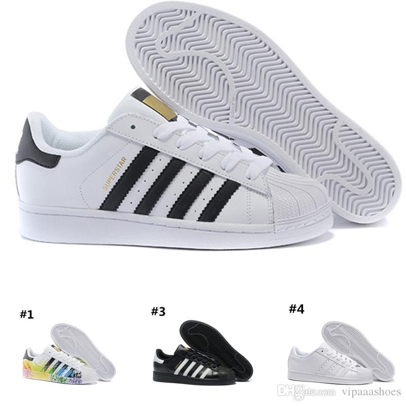 separation shoes 13cfb 05a53 Acheter Supreme Nike Air Shoes Adidas Superstar NOUVEAU CONCEPTION Hommes Femmes  Superstar Chaussures Sneakers Occasionnels Chaussures De Marche Femme ...