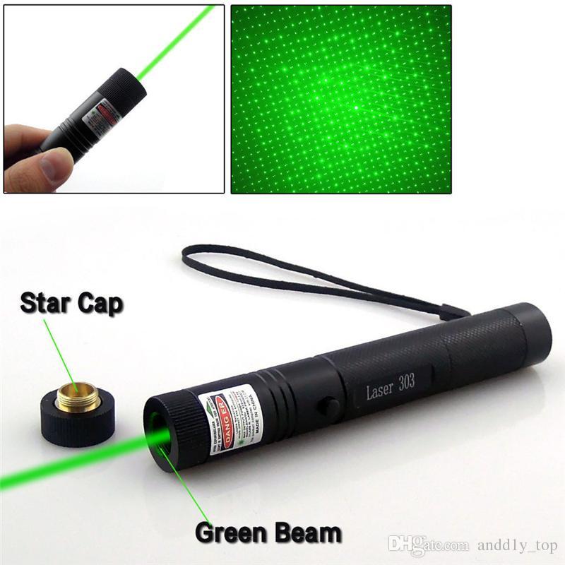 Potente 301 luce laser 532nm professionale Verde Penna puntatore laser 303 puntatore laser verde penna con 18650
