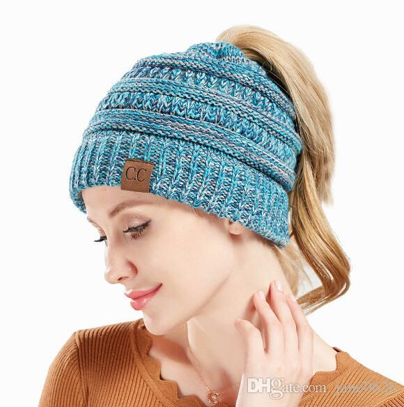 b0f9e3a774e C.C BeanieTail Soft Stretch Cable Knit Messy High Bun Ponytail Beanie Hat  Visor Beanie Cap Cc Cap Women Cap Outdoor Hats Online with  8.2 Piece on ...