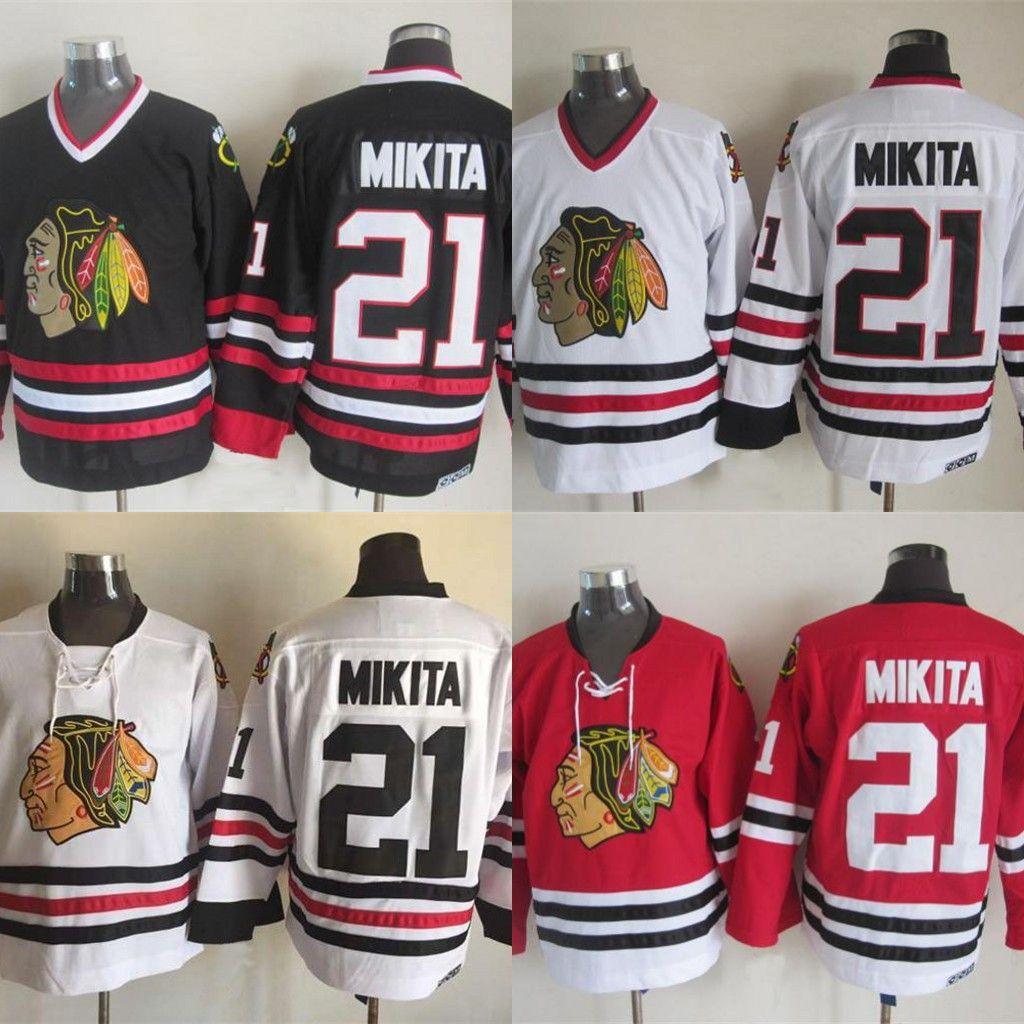 2019 21 Stan Mikita Jersey Chicago Blackhawks Hockey Jerseys Men Retro All Stitched  Jersey Fast From Felixtrading 39dd765f1