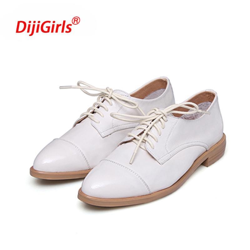 Im Frühjahr und Sommer Damen wies flache Schuhe Leder große Zahl gut mit Frauen Schuhe, rot, 40 lackiert