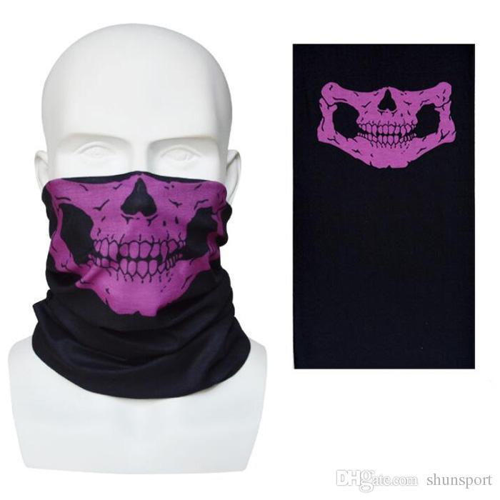 New Skull Design Multi Function Bandana Sci Sport Motociclista Sciarpe mezza faccia Maschere Maschera facciale esterna i