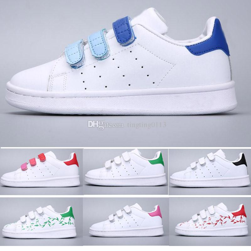 new style 57211 131f8 Acquista Adidas Stan Smith Superstar Scarpe Superstar Bambini Di Marca  Original Baby Oro Bianco Bambini Superstars Sneakers Originals Super Star  Ragazze ...