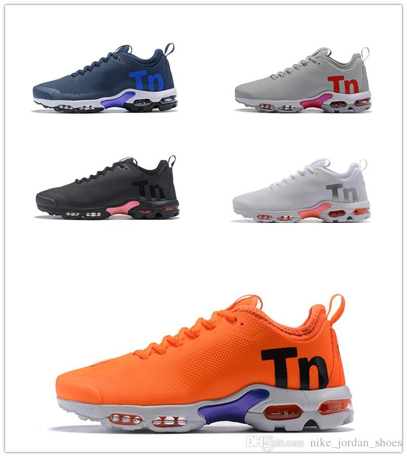 dc63e532b66 2019 Mercurial TN Black Orange Colorway Men Women Running Shoes PLUS Tn  Ultra SE Black White Designer Sneakers Trainers Sports 5.5 12 From  Nike jordan shoes ...