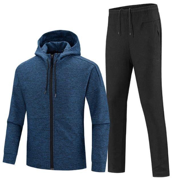 Acheter 2019 Costume De Sport Pour Hommes Costume De Sport Décontracté Survêtement  Homme Manteau Veste + Vêtements De Sport Pantalons Sweats Ensembles De ... 729eb22e4ec7