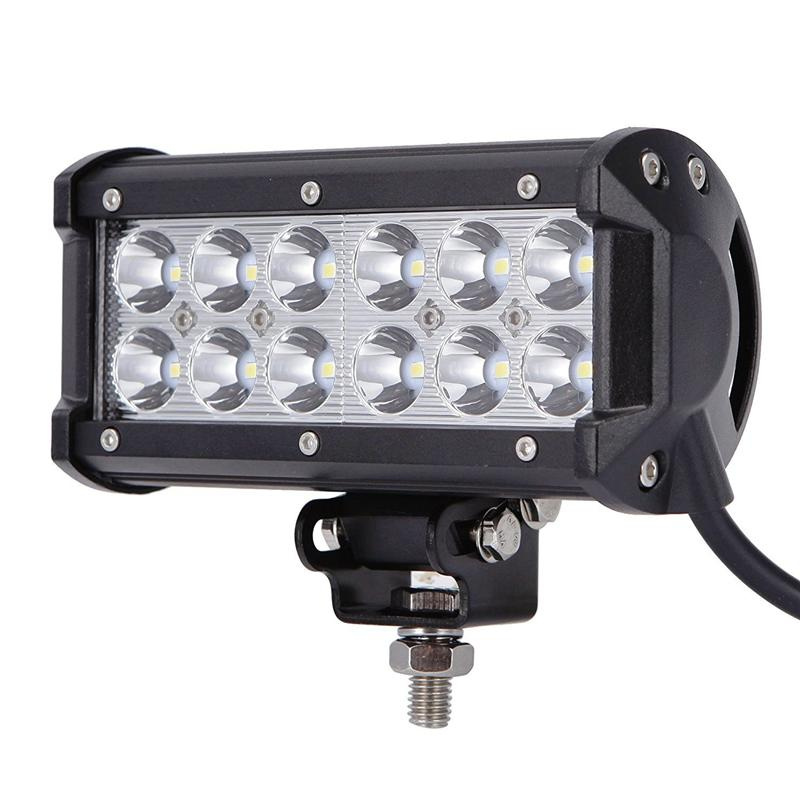 2018 12 led 36w cree led work light bar suv atv roof lighting jeep