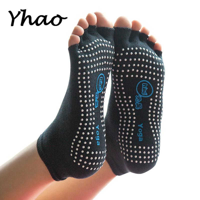 save off 77711 c295e Calze senza bretelle Yhao Yoga Calze antiscivolo per donne Pilates Fitness  Fitness Sport