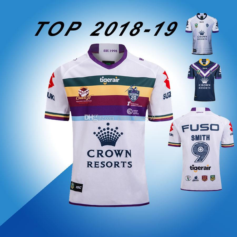1c7fb85546f 2019 NEW SMITH 9 Melbourne Storm 2018 2019 Home Away Rugby Jerseys NRL  National Rugby League Shirt Nrl Jersey 18 19 MELBOURNE STORM Shirts S 3xl  From ...