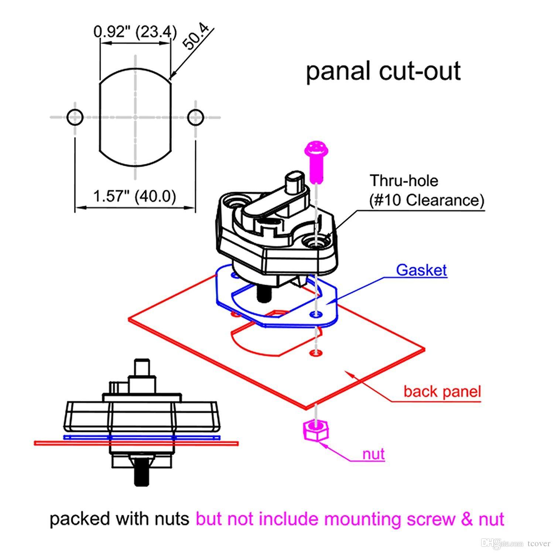 회로 차단기, 자동 자동차 퓨즈 홀더 수동 리셋, 12V- 48V DC, 방수 기능이있는 40Amp 회로 차단기 트롤링