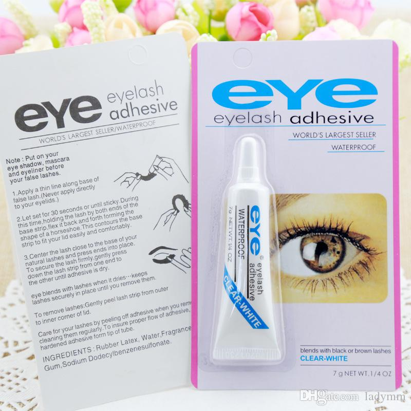DHL Free 7G Eye Lajal Pegamento Negro Blanco Maquillaje Ojo Pajas Adhesivo Agusivo Impermeable Pestañas Falsas Adhesivos Pegamento Blanco Y Negro Disponible