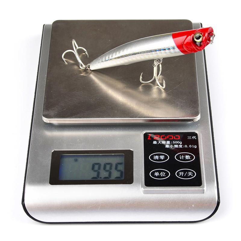 Marka Tatlı Su Balıkçılık bas Crankbait 9 cm 10g Yüzen Yüzme Plastik Lazer Popper yem kancalar Plastik Kutu Paketi