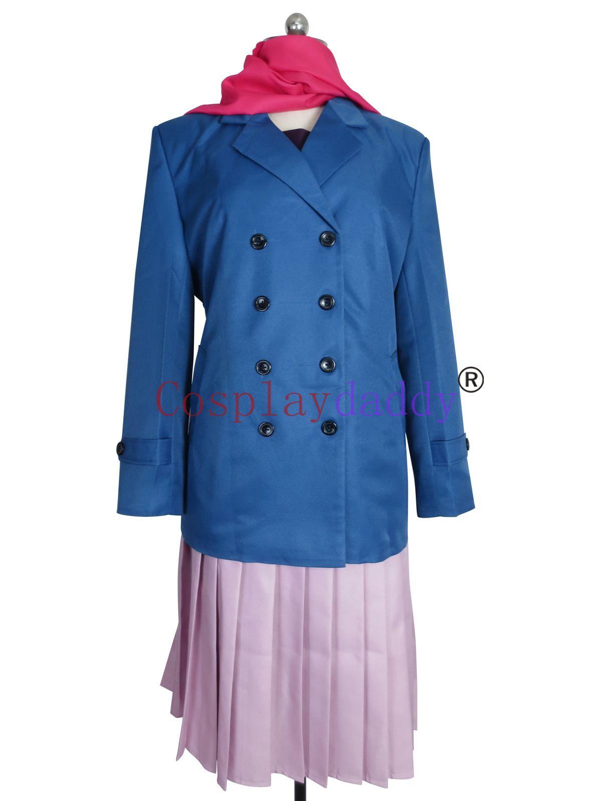 Noragami Cosplay Hiyori Iki Mantel Uniform Full Set Kostüm H008
