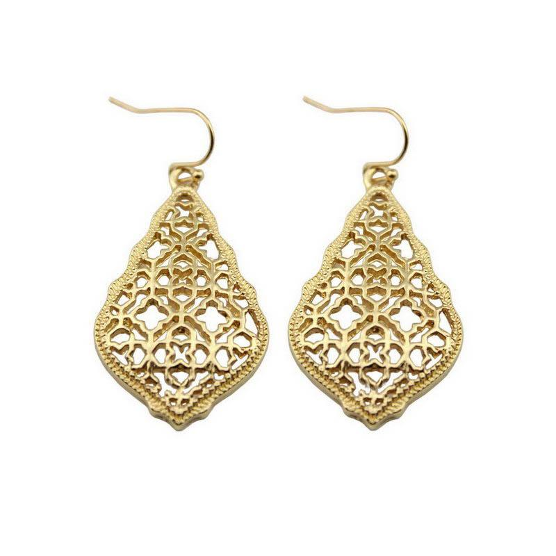 e5ef180b51 ZWPON Bohemian Gold Filigree Hollow Teardrop Earrings 2018 Famous Brand  Jewelry Boho Fashion Women's Morocco Statement Earrings