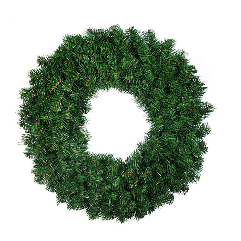 Merveilleux 40cm Christmas Wreath Front Door Hang Garland With Pine Needles For Party  Decoration Ornament For Christmas Ornaments From Isaaco, $60.31| Dhgate.Com