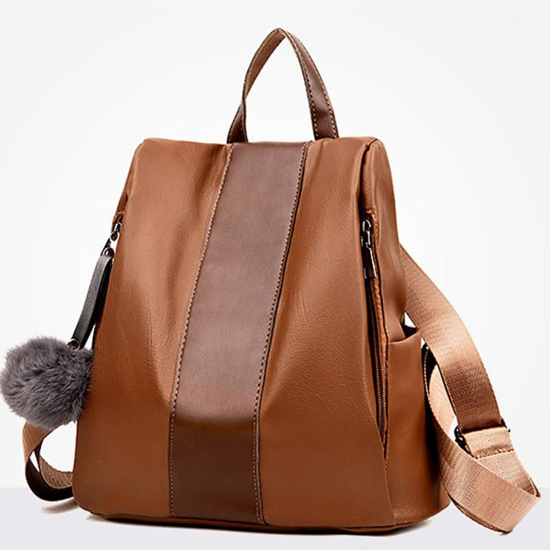 3b219c1cd19b 2018 New Women BackpacPU Leather Backpack Vogue Female Casual Bag Girls School  Bags Woman Travel Back Pack Fashion Style Hot Dog Backpack Backpacks For ...