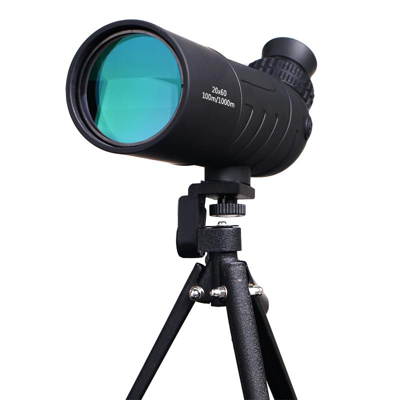 High Quality 20x60 Traveller Monocular HD Optical Lens Bird Watching High Definition Eyepiece Waterproof Telescope for Camping