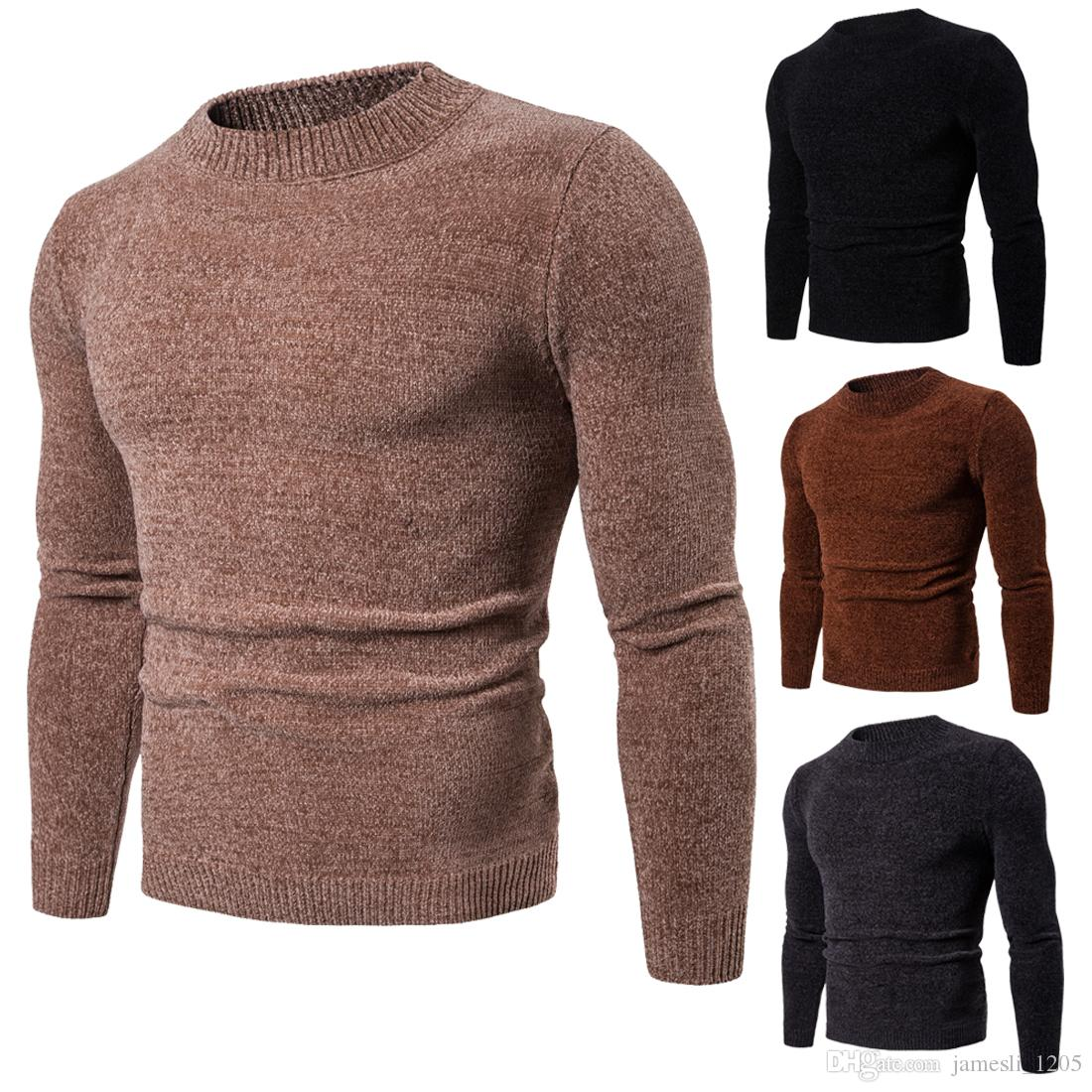 2019 New Designer Sweater Pullover Men Brand Tops With Long Sleeve Crew  Neck Wool Blend Fabric Slim Casual Winter Mens Clothing Online From  Jamesli 1205 8359f51beb5