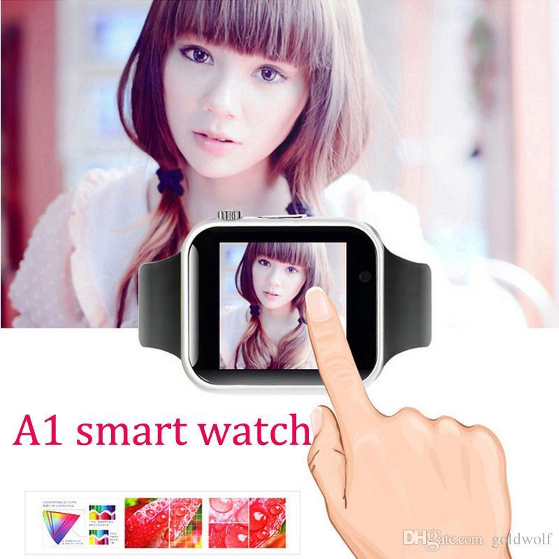 A1 Smart Watch Wearable Android Bluetooth Smartwatch Support Android et IOS SIM et fente pour carte TF En Stock Expédition rapide VS DZ09 GT08