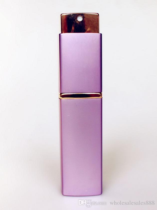 100 adet ÜST kalite Lüks Kare Boş Parfüm Şişesi 20 ML Alüminyum Doldurulabilir Şişe Taşınabilir Metal Sprey Atomizer