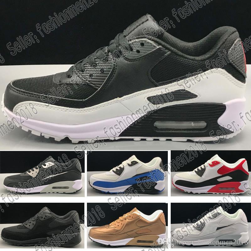 quality design 87ac8 55d13 Acheter Nike Air Max AirMax 90 Hommes Femmes 90 Sneakers 2018 Vente Chaude Coussin  90 Casual Chaussures Hommes 90 Haute Qualité Nouveaux Baskets Pas Cher ...
