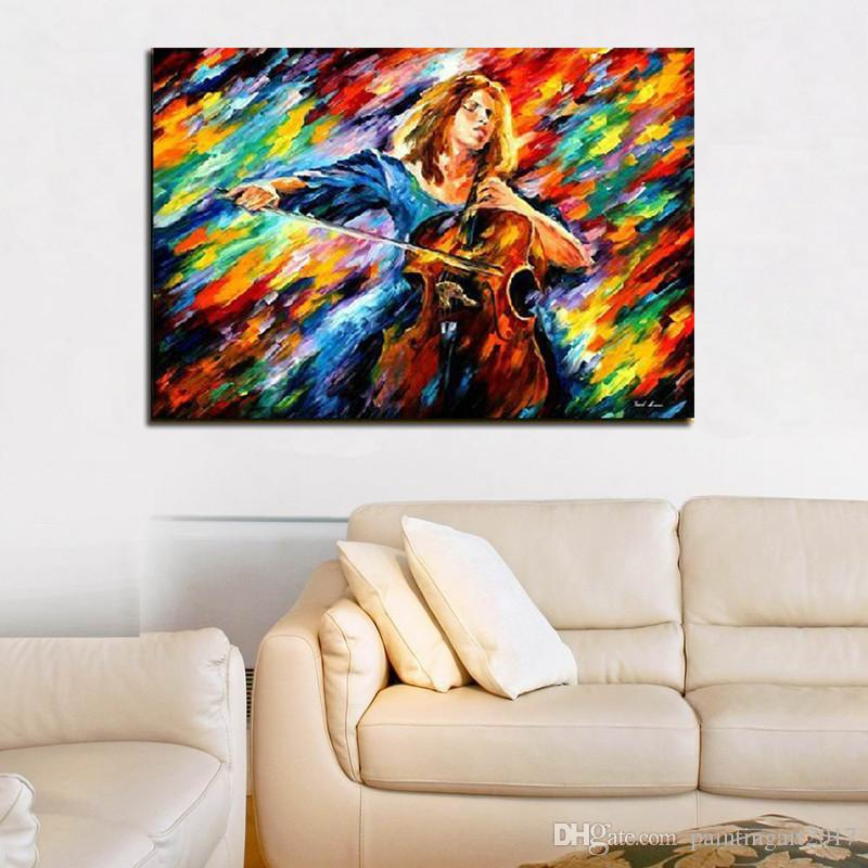 New Modern classical Art Oil Painting Wall art Decoration knife paintings crazy for music canvas art