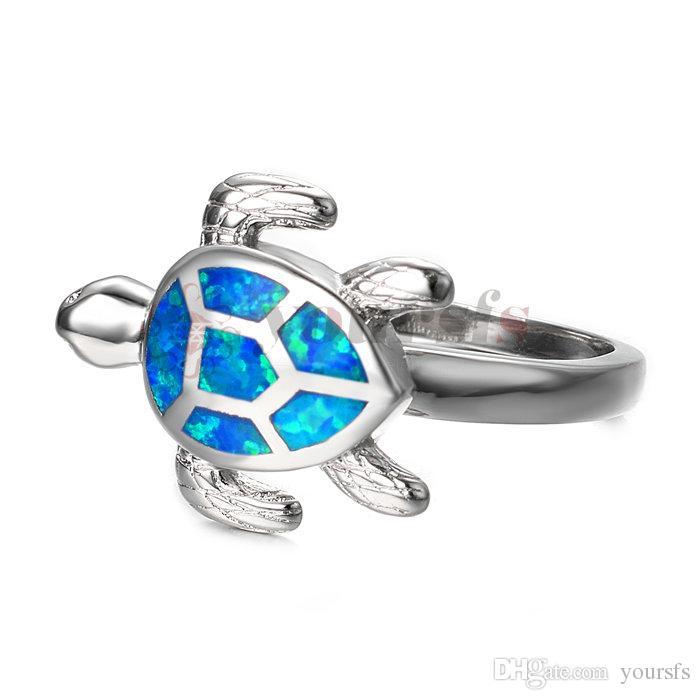Yoursfs Animal Ring For Men,Fox Ring /Tortoise Rings Green Crystal Eye 18K White /Rose Gold Plated Rings