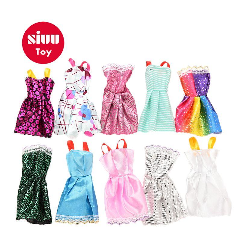15d72bef8 Compre Hot 10 Pçs   Lote Princesa Vestido De Festa Vestidos De Roupas Para  Boneca Handmade Acessórios Vestido Bonito DIY Presente Da Moda JZ25 De  Luckyno