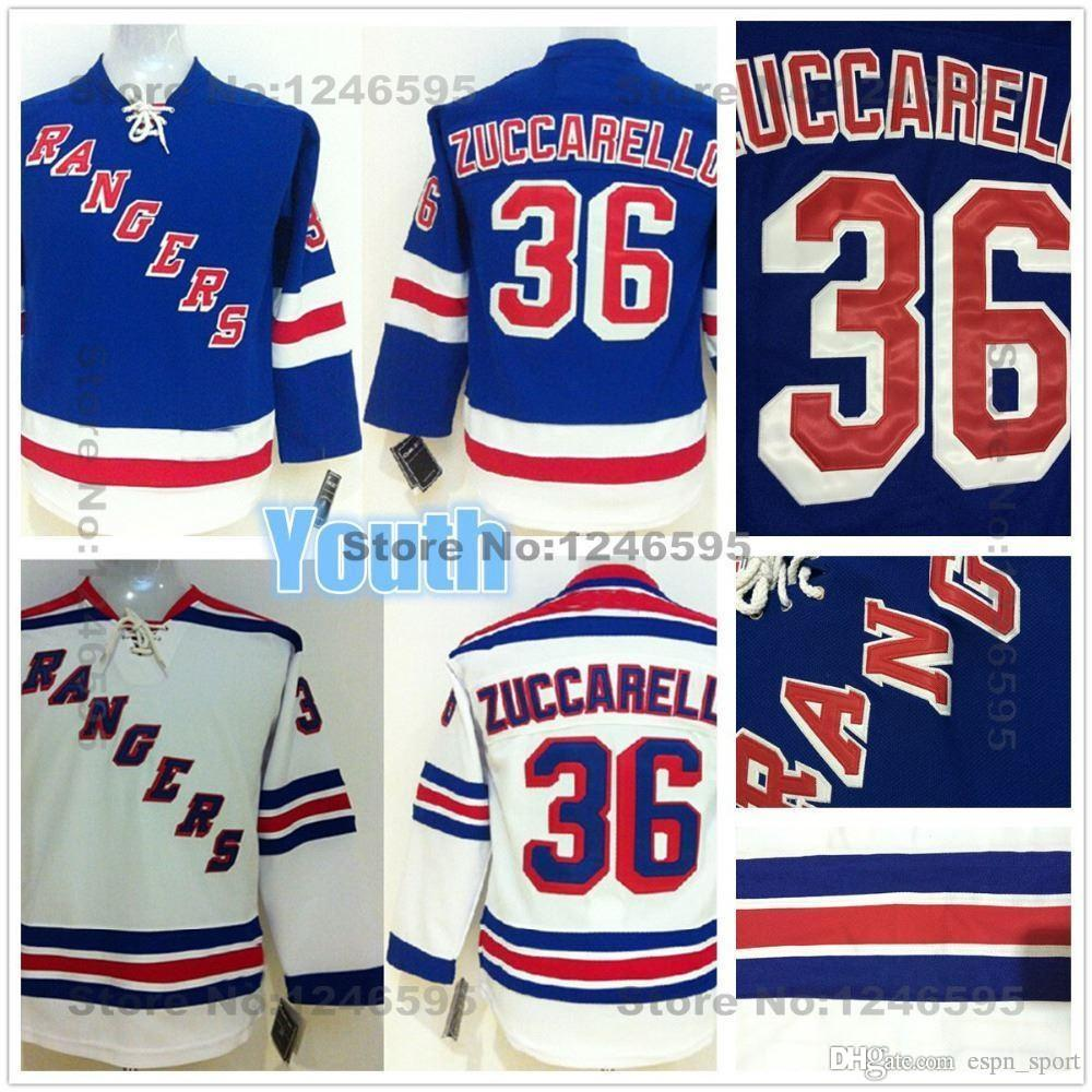 the latest 5cfec dd628 2015 Kids New York Rangers Jersey #36 Mats Zuccarello Jersey Youth NY  Rangers Kids Home Blue Road White Mats Zuccarello Hockey Jersey