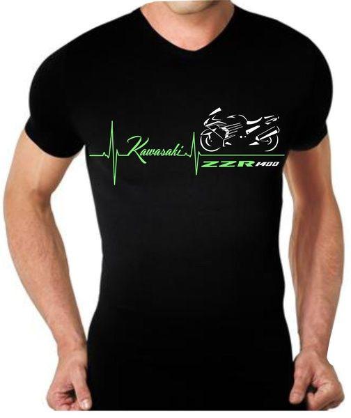 Manner T Shirt Kawasaki Zzr1400 Maglietta Zzr 1400 T Shirt