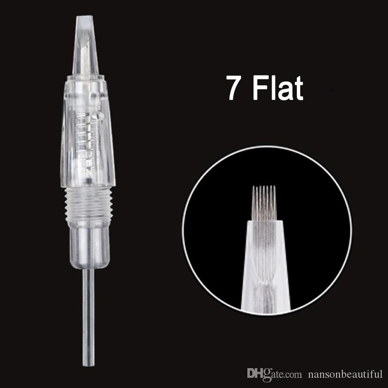 2018 New CHAEMANT Machine Needle Permanent 8mm Screw Needle for beauty Tattoo Needle Make-up Supply with high quality 1R 3R 5R