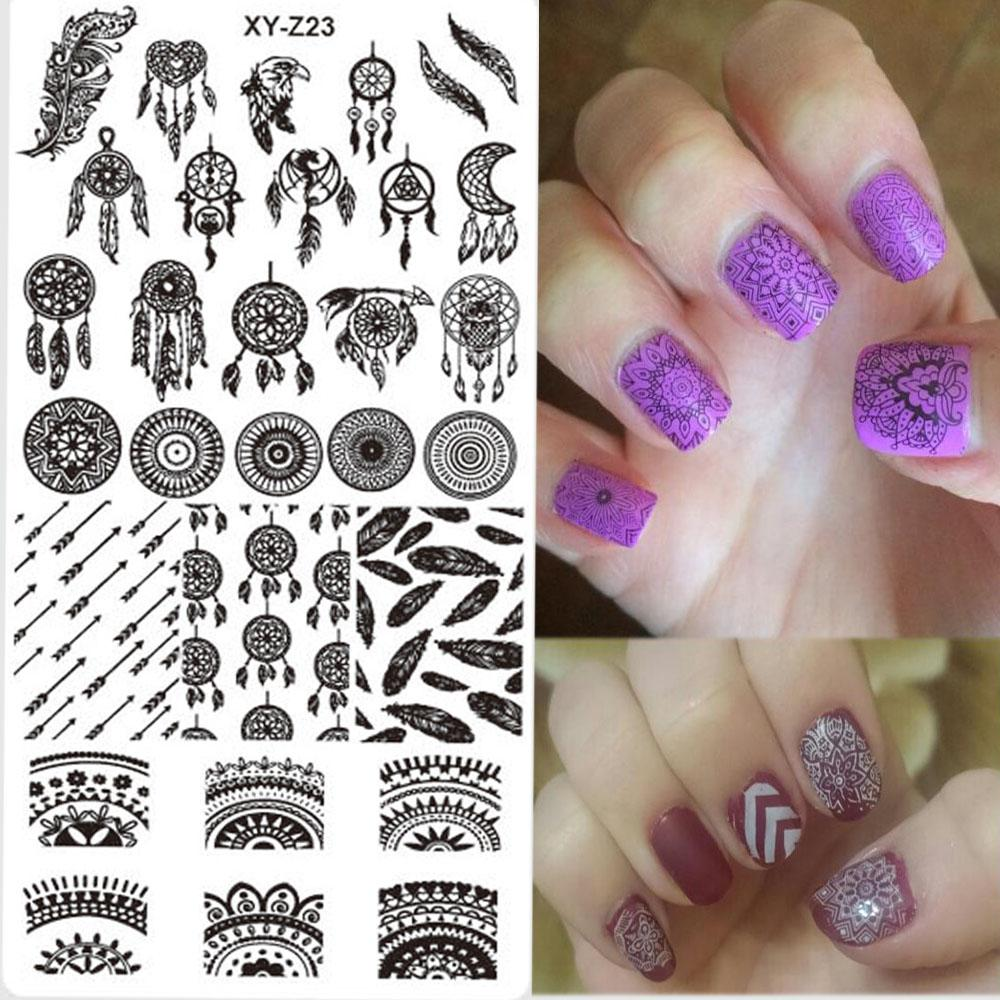 Nail Stamping New Designs Dream Catcher Beauty Pattern Stainless ...