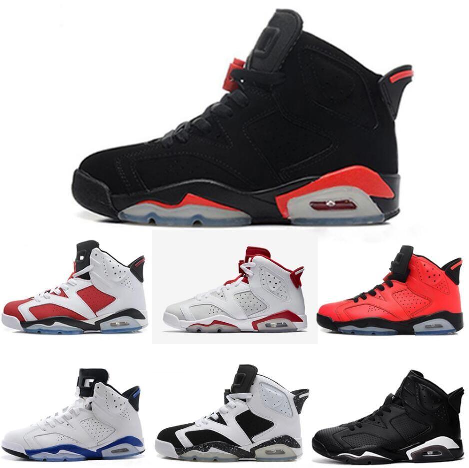 new concept 01052 477f8 Compre Nike Air Jordan Aj6 2017 Re Old 6 Hombres Zapatillas De Baloncesto  Infrared 23 Carmine Black Cat Angry Bull Infrared Oreo WhiteInfared Black  Sport ...