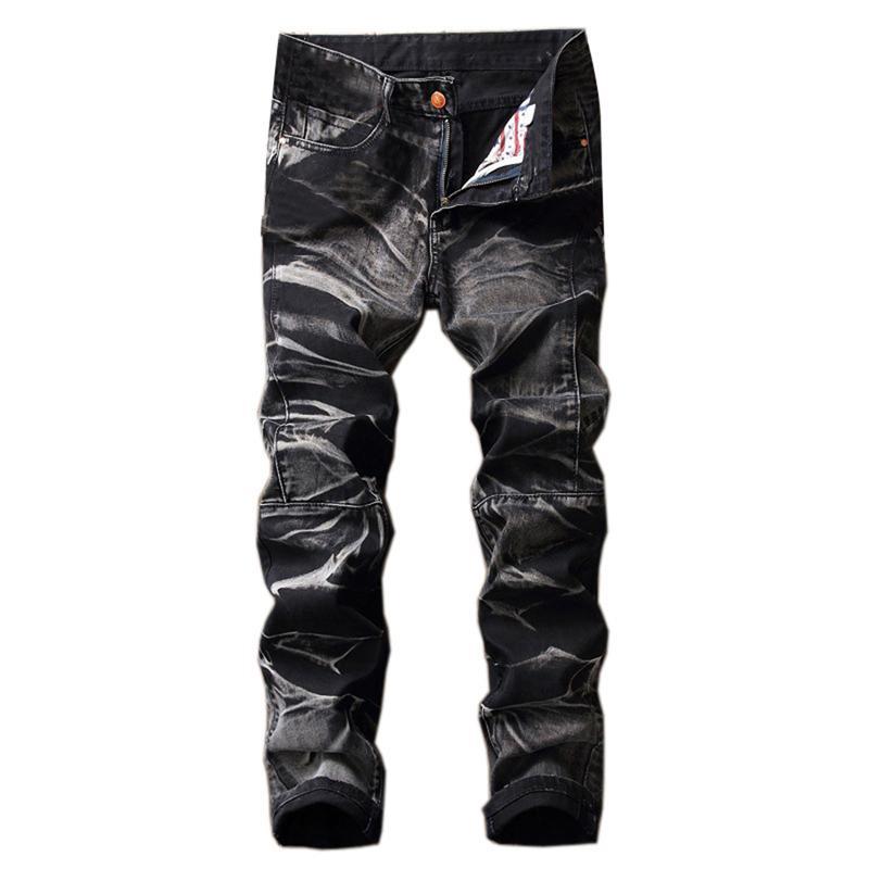 41451fccf7 Compre WENYUJH 2018 Nueva Moda Vintage Mens Denim Jeans Clásicos Jeans Slim  Mens Designer Jeans Pantalones Ropa Tallas Grandes Para Hombre Pantalones  ...