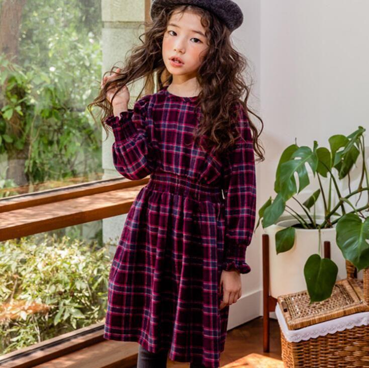 2018 christmas autumn girl plaid dress kids clothing fashion long sleeve children casual dress 2019 baby clothes from ywbaby 8105 dhgatecom - Christmas Plaid Dress